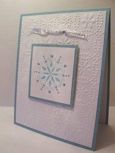 Snowflake for NiKiE using Stampin Up Snow Swirled stamp set
