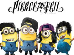 OMG Pierce The Veil as Minions i just like died when i saw this Minions+Pierce the Veil= AWESOMENESS