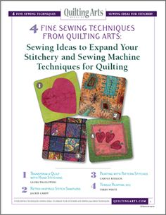 4 Fine Sewing Techniques from Quilting Arts: Sewing Ideas to Expand Your Stitchery and Sewing Machine Techniques for Quilting - Media - Quilting Daily