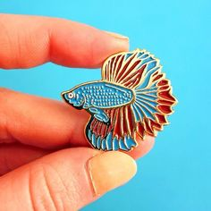 Betta fish pins on etsy or at: http://ift.tt/2eRq3pj