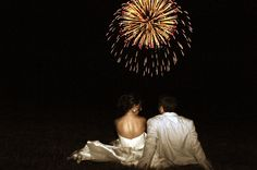 Love this picture! - if fireworks in happen at my wedding this better be done :)