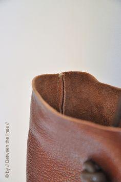 Simple leather bag tutorial | tutorial | // Between the Lines // | Flickr