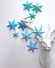 Объемные звезды (DIY) / Бумага и карандаши (скрапбукинг, оригами, и т.д.) /