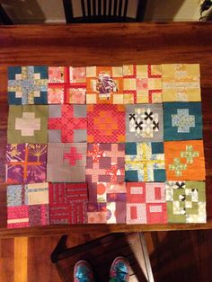 My first 20 City Sampler block by Tula Pink