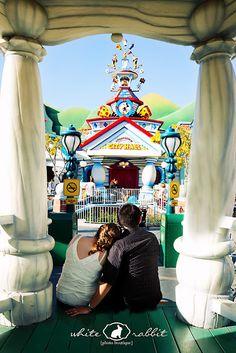 The White Rabbit Photo Boutique: Kristina and Jack {post wedding shoot} Disney Engagement Pictures, Disneyland Engagement Photos, Engagement Shots, Engagement Ideas, Disneyland Christmas, Disneyland Trip, Disney Trips, Disney Land Pictures, Disneyland Anniversary