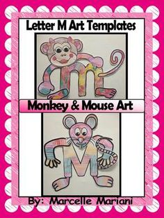 M is for Monkey, M is for Mouse- Letter M Art Activity Templates- Color, Cut, Paste literacy Centers from KinderPrep from KinderPrep on TeachersNotebook.com (19 pages)  - This pack contains art activity templates for the letter M (Mouse and 2 different monkey arts).  These activities are great for letter literacy centers for the letter M- color, cut and assemble.