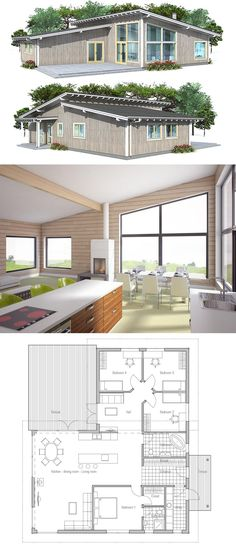 Small House Plan, Modern Home Design, Home Plan