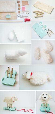 lamb pull toy | One More Mushroom