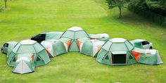 The Decagon Link Station by Logos is a modular tent system with, theoretically at least, no limit to its extendability