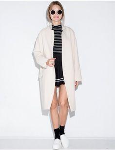 Long Ivory Duster Coat