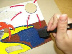 use a sponge brush for collographs. works better than rollers.