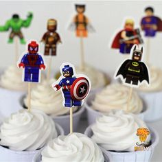 LEGO Cup Cake Toppers //Price: $20.95 & FREE Shipping //     #icingcake