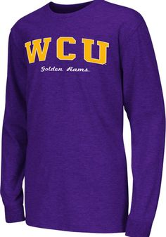 c8a41eb5782 Colosseum West Chester Golden Rams Youth Purple Rally Loud Long Sleeve T- Shirt - 15032196
