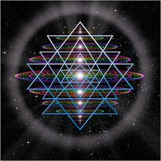 The symbol known as the Sri Yantra is an ancient Hindu symbol comprised of nine triangles that are interlaced in such a way as to form 43 smaller triangles in a web said to be symbolic of the entire cosmos. The 64 tetrahedron grid is also the foundational seed #geometry of the fabric of the vacuum according to #NassimHaramein's #UnifiedFieldTheory. Everything is connected by the structure of #space.