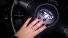 Subaru nails, totally something that I would do ha