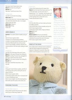 Knit Today 2009 01 : Free Download, Borrow, and Streaming : Internet Archive Knitting Bear, Teddy Bear Knitting Pattern, Animal Knitting Patterns, Knitted Teddy Bear, Crochet Dolls Free Patterns, Teddy Bear Patterns Free, Crochet Doll Tutorial, Knitting For Charity, Knitted Animals