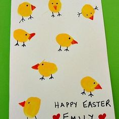 Thumbprint Easter craft--great one for this year!