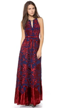 Free People Hedgemaze Maxi Dress, how pretty!  Reminds me of the dresses on the show Reign on the CW