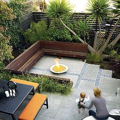 small modern outdoor paved patio - Google Search