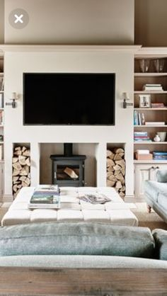 Most recent Screen wood burning Fireplace Hearth Concepts Terrific Images long Fireplace Hearth Thoughts Log burner no chimney # Home Living Room, Living Room With Fireplace, Contemporary Fireplace, Fireplace Design, New Living Room, Log Burner Living Room, Modern Fireplace, Cosy Living Room, Living Room Tv