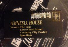 AMNESIA HOUSE - RARE RAVE FLYERS. 1993/94 Amnesia House, The Edge, Rave Flyer.    eBay