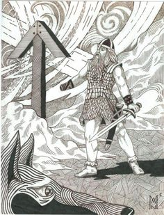 Tyr and the rune Tiwaz