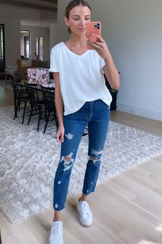 White Tees, Summer Looks, Boyfriend Jeans, Spring Summer, Outfits, Style, Swag, Suits, Summer Fashions
