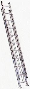 Werner Duty Rating Aluminum Flat D-Rung Extension Ladder