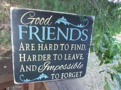 "This Primitive, rustic,Inspirational sign,Is made of wood, and hand painted and distressed, to give a primitive look. Great gift for your best friend. Sign measures 11 1/4"" X 12"" . It comes with a han"