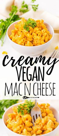 Creamy Vegan Mac and Cheese (Dairy-Free) Vegan Mac and Cheese recipe made with all-natural ingredients! In no time you'll have healthy and homemade vegan mac and cheese hot and ready. (Gluten Free, Dairy Free, Vegan) via Dairy Free Mac And Cheese, Mac And Cheese Homemade, Easy Vegan Mac And Cheese Recipe, Lactose Free Recipes, Vegetarian Recipes, Healthy Recipes, Keto, Paleo, Gluten Free Dinner