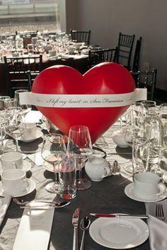heart centerpieces - Buscar con Google