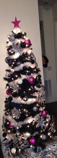 Animal print inspired Christmas tree id do differently But like