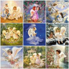 Buy Diamond Painting Embroidery Kits - Full Drill Choose from thousands of DIY Diamond Art Kits or make your own Paint With Diamonds - Diabroidery Diy Angels, Mosaic Pictures, 5d Diamond Painting, Diamond Art, Embroidery Kits, Religion, Cross Stitch, Mermaid, Fairy