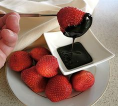 For a cool dip that goes great with those summer strawberries, try this Balsamic Dip at your next garden party.