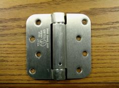 """4"""" x 4"""" Spring Hinges with 5/8"""" radius corner - Available in Multiple Finishes - Sold in Pairs"""