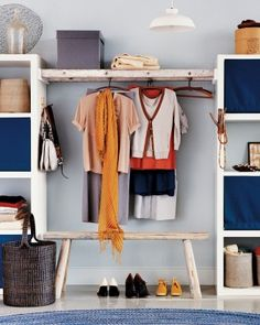 Walk-By Closet   Don't have the space that a walk-in closet demands? Try building a walk-by.