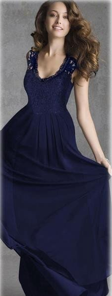Hollow Lace Patchwork Scoop Evening Party Dress