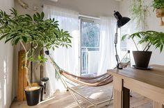 天窓のあるダイニングは、サンルームのように明るい。南側の雑木林も借景に。「カーテンを閉めなくても生活できるのがいいですね」。