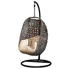 Super range of Hanging Egg Chairs & Cocoon Garden Swing Chairs That Are Unique & trendy That Provide comfoort And Ultimate Relaxation for outdoor/ indoor. Egg Swing Chair, Hanging Egg Chair, Swinging Chair, Egg Shape, Ways To Relax, Reduce Stress, Chairs, Cushions, Eggs