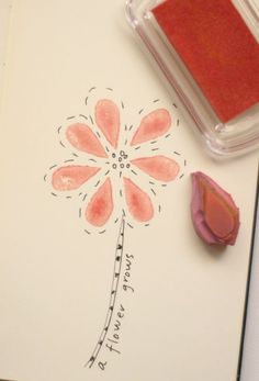 making a rubber eraser stamp and doodling with quotes...good idea