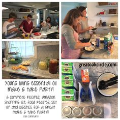 Want to host a make and take essential oil party without all the headache?? Here is a complete shopping list, printable recipes, tips and logistics to make your party AWESOME!!!