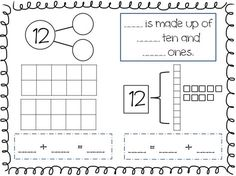 Compose and Decompose Numbers 11-19 FREEBIE