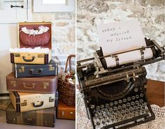 Typewriter, 3 to choose from. www.glamourousaffairsinc.ca