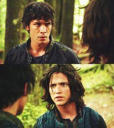 Bellamy Blake and Finn Collins || The 100 season 1 episode 5 - Twilight's last gleaming || Bob Morley and Thomas McDonell || Fellamy