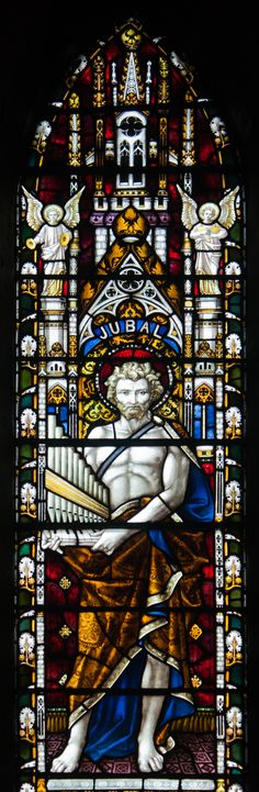 Dublin_St._Patrick's_Cathedral_Ambulatory_Southern_Section_Window_Jubal_ don't forget this is a son of Cain.