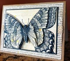handmade card ... toile technique Swallowtail butterfly ... lov the depth it gets with layering and popping on dimensionals ... Stampin' Up!