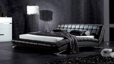 Today we thought of talking about the Platform Bed design ideas. We welcome you to our latest gallery of 30 Contemporary Platform Bed Design Ideas. Black Leather Bed, Leather Platform Bed, Leather Bed Frame, Bed Platform, Leather Headboard, Black Master Bedroom, Platform Bed Designs, Black Bedroom Furniture, Furniture Direct