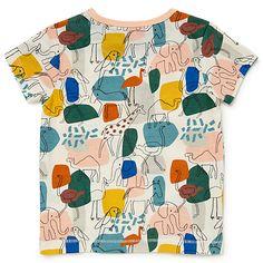 Buy John Lewis Baby GOTS Organic Cotton Animal Colour Block T-Shirt, Multi Online at johnlewis.com