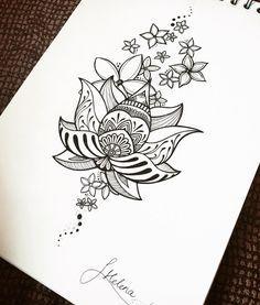 Flor de lotus ❤ • • • #helenalloretart #lotus #lotusflower #handmade #flordeloto #flor #flores #doodle #doodling #art #arte #artist #artistic #mandala #zentangle #masterpiece #artwork #dotwork #flowers #design #diseño #draw #drawing