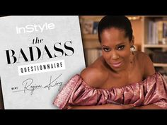 Regina King Takes the Badass Questionnaire | InStyle - YouTube Regina King, Badass, Actresses, Youtube, Female Actresses